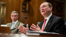 HHS Assistant Secretary for Preparedness and Response Dr. Robert Kadlec at a Senate committee hearing
