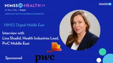 Lina Shadid, health industries lead at PwC Middle East