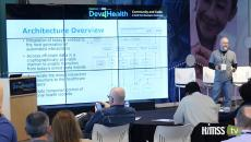 Tim Dunlevy, VP of engineering at Pokitdok explains Blockchain at Dev4Health event