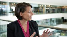 Tina Joros talks to HIMSS TV about healthcare innovation