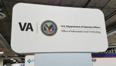 Veterans Affairs healthcare sign at HIMSS