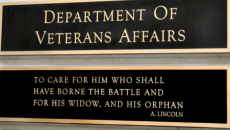 veterans affairs building sign