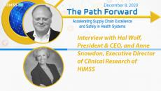 HIMSS CEO Hal Wolf and Executive Director of Clinical Research Anne Snowdon