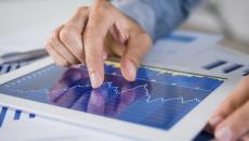 analytics graph on tablet