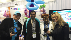 Attendees at the Clinicspectrum booth
