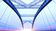 Bridge with lights