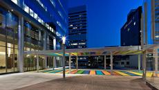 The entrance to Centene's St. Louis headquarters. (Centene)