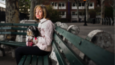 Anita Chanko, whose husband was hit by a sanitation truck in Manhattan. (Dina Li