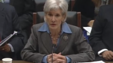 HHS Secretary Kathleen Sebelius testifies on Capitol Hill Oct. 30.
