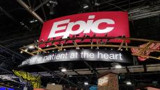 Epic logo at a booth