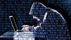 person stealing online data
