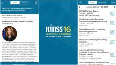 The HIMSS16 mobile app is the perfect solution for navigating the event.