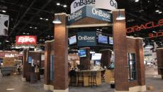 Hyland's booth on the HIMSS show floor