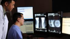Docs looking at radiology images