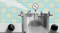 Steaming pressure cooker