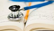 stethoscope on books