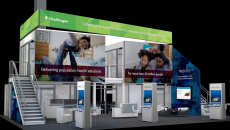 A representation of Medicity's HIMSS16 booth