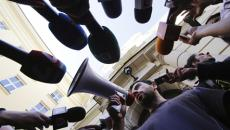 megaphone and microphones