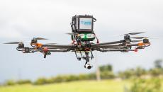 merck drone flying in the air
