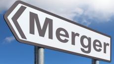Merger sign.