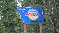 A Montana welcome sign