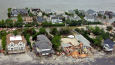 Hurricane damage in New Jersey