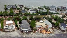 Hurricane damage in New Jersey