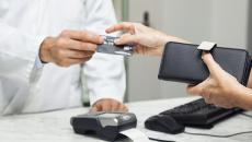Patient paying for health services.