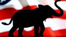 Elephant and flag