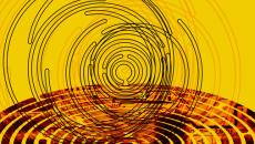 Circular maze illustration