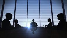 executives at a meeting
