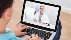 Telemedicine consultation.