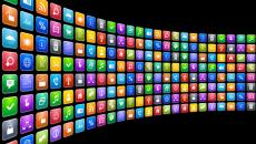 wall of mobile icons