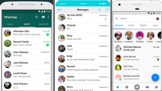 Screensnaps of Whats App, iMessage and Facebook Messenger