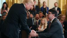 Trump shakes hands with acting VA secretary Wilkie at White House