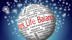 Work life balance word bubble