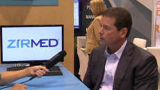 Tom Butts, CEO of Zirmed, being interviewed at HIMSS15.