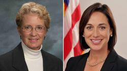 Dr. Karen DeSalvo and HIMSS Vice President Pat Wise