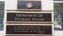 The Department of Veterans Affairs plaque