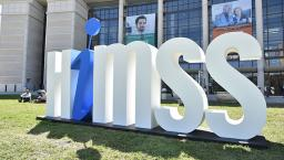 HIMSS sign outside