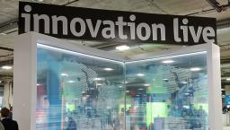 innovation live booth at himss18