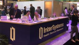 InterSystems trade show desk