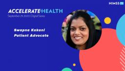 Patient advocate Swapna Kakani