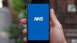 NHS app on smartphone.
