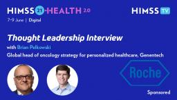Brian Pelkowski, Genentech's global head of oncology strategy for personalized healthcare