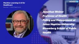 Jonathan Weiner, professor at Johns Hopkins Bloomberg School of Public Health