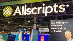 Allscripts trade show booth display