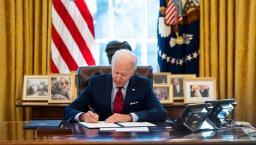 President Biden signing bills