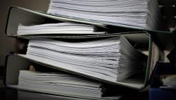 A pile of binders