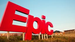 Epic logo sign outside